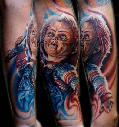 Chucky tattoo