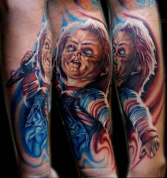 tattoo della bambola assassina