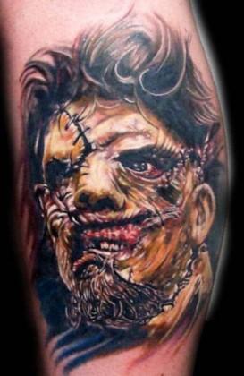 Faccia di cuoio tattoo