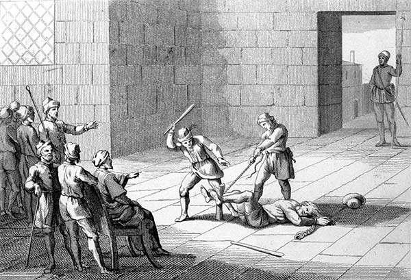 1 La battitura dei piedi - Torture medioevali