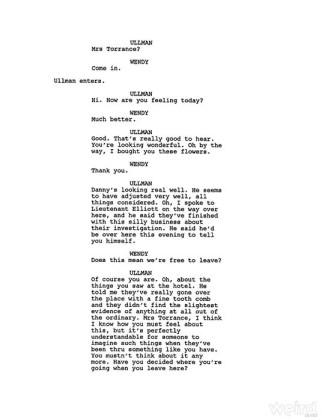Shining finale tagliato - sceneggiatura