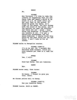 Shining finale tagliato - sceneggiatura 3
