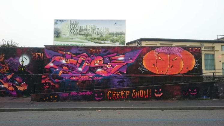 Graffito horror Milano