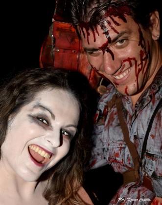 Ash e Sheila deadite cosplayer (Stefano e Marcella)