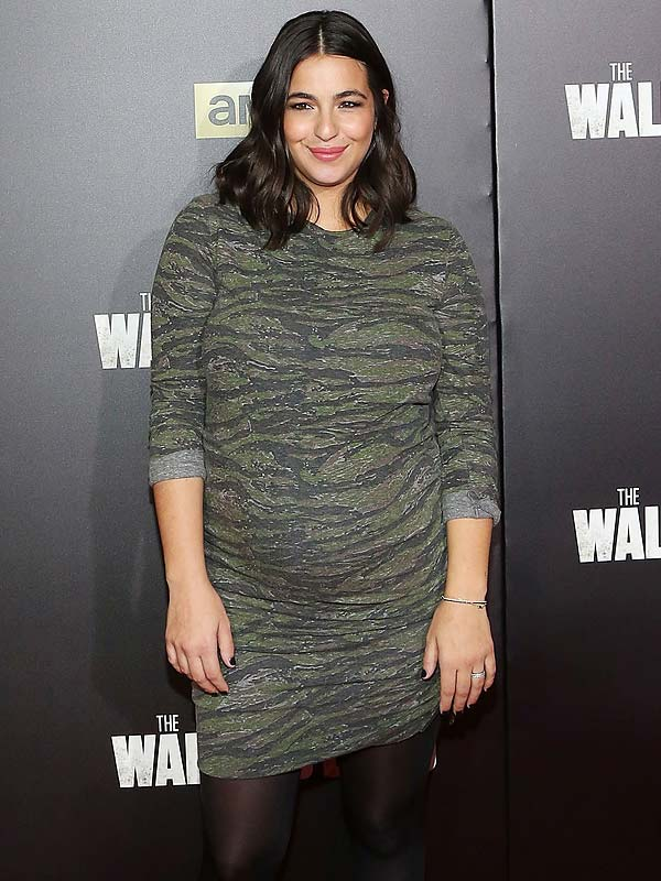 Alanna Masterson (Tara) incinta ingrassata