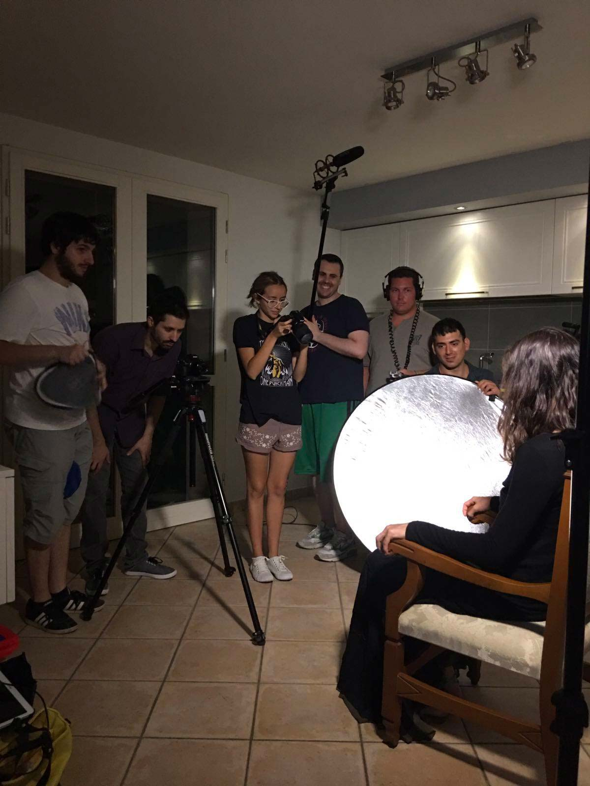 """Parte del team """"Lepisberg Studios"""" durante le riprese di Within"""