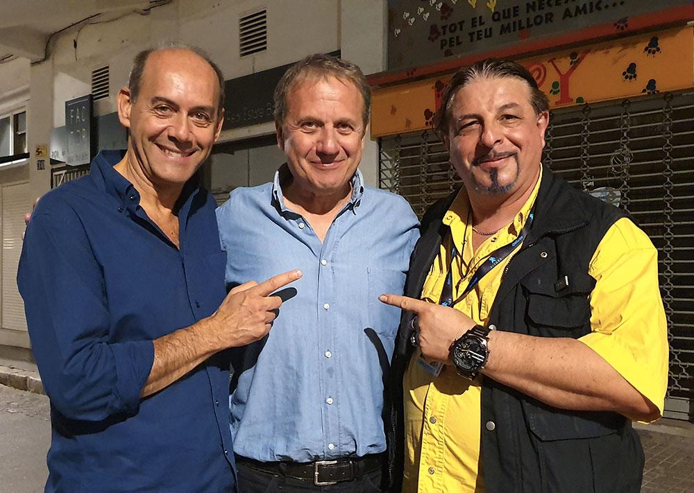 Io con Claudio Lattanzi ed Antonio Tentori